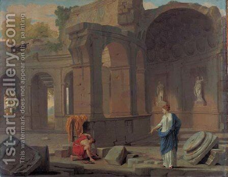 Theseus recovering his father's sword by Jean Lemaire - Reproduction Oil Painting