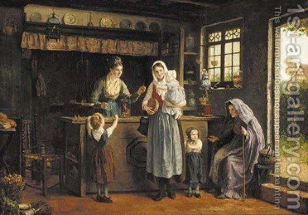 An irrestible offer by Heyermans - Reproduction Oil Painting