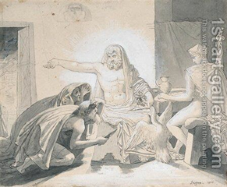 Philemon and Baucis by Jean Auguste Dominique Ingres - Reproduction Oil Painting