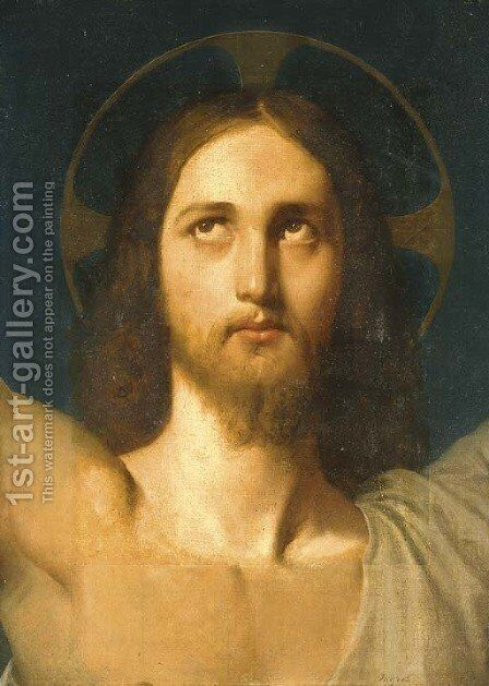 The Head of Christ by Jean Auguste Dominique Ingres - Reproduction Oil Painting