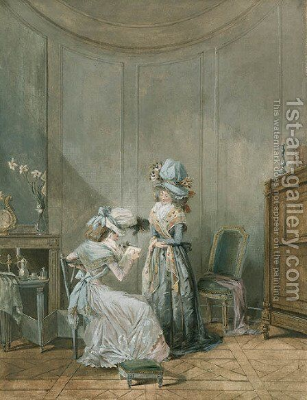 Untitled by Jean-Baptiste Mallet - Reproduction Oil Painting