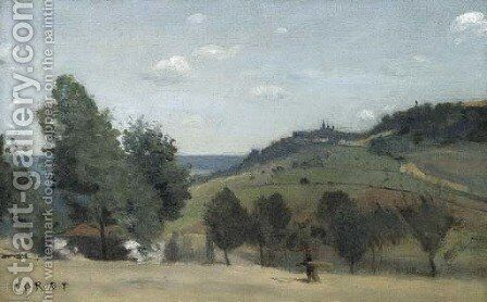 Suresnes by Jean-Baptiste-Camille Corot - Reproduction Oil Painting