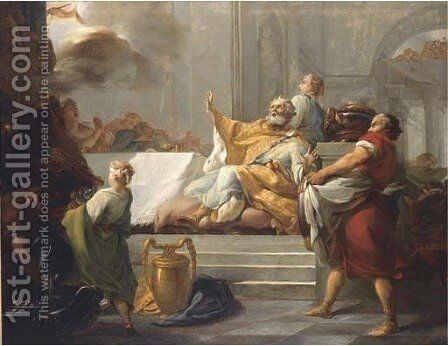 The Feast of Belshazzar by Jean-Baptiste-Marie Pierre - Reproduction Oil Painting