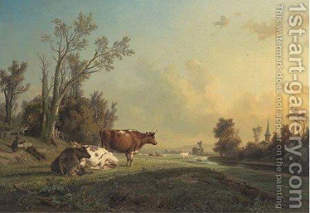 A well earned rest by Jean-Charles Joseph Rémond - Reproduction Oil Painting