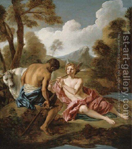 Mercury and Argus by Jean François de Troy - Reproduction Oil Painting
