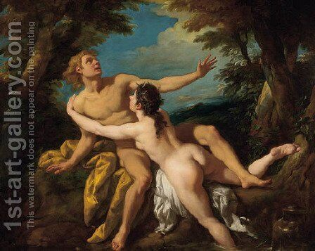 Salmacis and Hermaphroditus by Jean François de Troy - Reproduction Oil Painting
