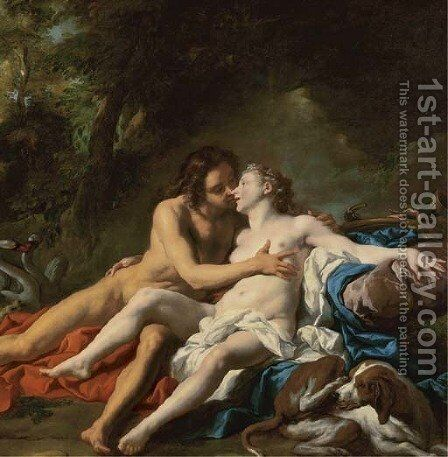 Venus and Adonis by Jean François de Troy - Reproduction Oil Painting