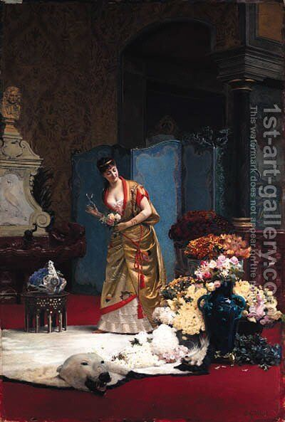 Untitled by Jehan Georges Vibert - Reproduction Oil Painting