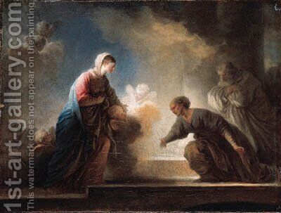 The Visitation by Jean-Honore Fragonard - Reproduction Oil Painting