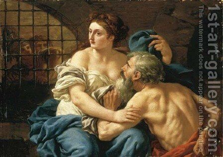 Roman Charity by Jean Jacques II Lagrenee - Reproduction Oil Painting