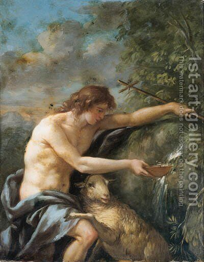 Saint John the Baptist in the Wilderness by Jean Jacques II Lagrenee - Reproduction Oil Painting
