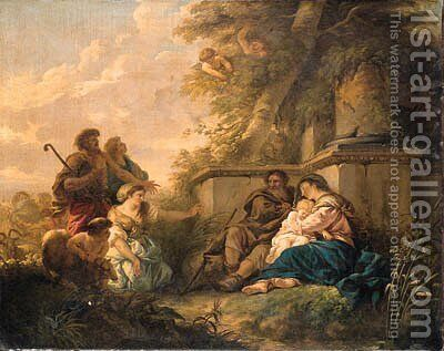The Rest on the Flight into Egypt by Jean Jacques II Lagrenee - Reproduction Oil Painting