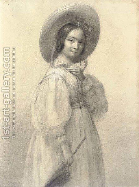 Portait of Claire Pradier, called Claire Gauvin by James Pradier - Reproduction Oil Painting