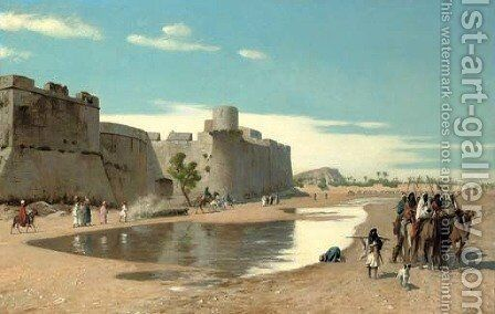 Vue d'Egypte by Jean-Léon Gérôme - Reproduction Oil Painting