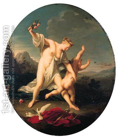 Venus chastising Cupid; and Venus and Cupid by Jean-Marc Nattier - Reproduction Oil Painting