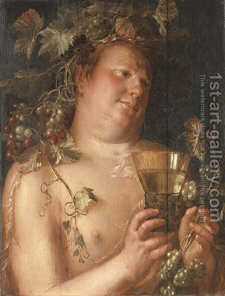 Bacchus by Joachim Wtewael - Reproduction Oil Painting