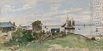 La Cte de Sainte-Adresse by Johan Barthold Jongkind - Reproduction Oil Painting