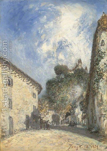Place du Treve aA  Virieu by Johan Barthold Jongkind - Reproduction Oil Painting