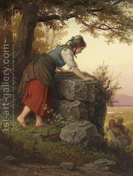 Betrayed by Johann Georg Meyer von Bremen - Reproduction Oil Painting