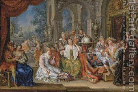 Allegory of the Five Senses by Johann Georg Platzer - Reproduction Oil Painting