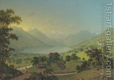 Sarnen im Canton Unterwalden by Johann Heinrich Bleuler I - Reproduction Oil Painting