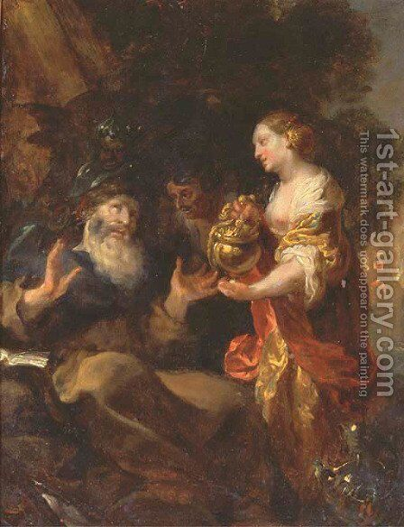 The Temptation of Saint Anthony by Johann Liss - Reproduction Oil Painting