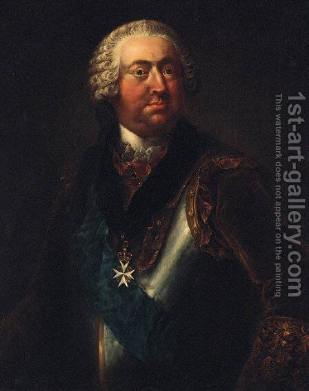 Portrait of Moritz Carl Graf zu Lyynar by Johann Niklaus Grooth - Reproduction Oil Painting