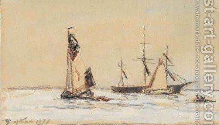 Marine by Johan Barthold Jongkind - Reproduction Oil Painting