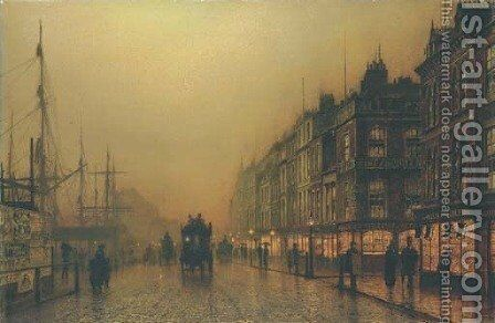 Reekie, Glasgow by John Atkinson Grimshaw - Reproduction Oil Painting