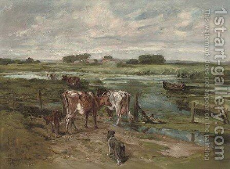 Herding the cattle to new pastures by John Emms - Reproduction Oil Painting