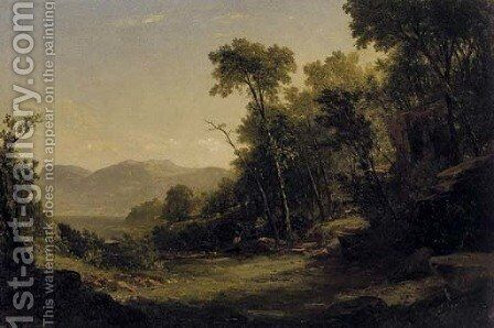 Afternoon in the Adirondacks by John Frederick Kensett - Reproduction Oil Painting