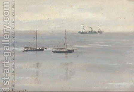 A grey day by James Aumonier - Reproduction Oil Painting