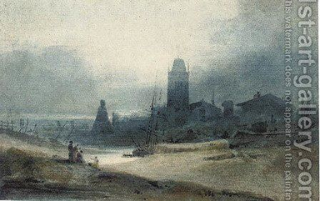 Bristol, with the church of St Mary Redcliffe by John Sell Cotman - Reproduction Oil Painting