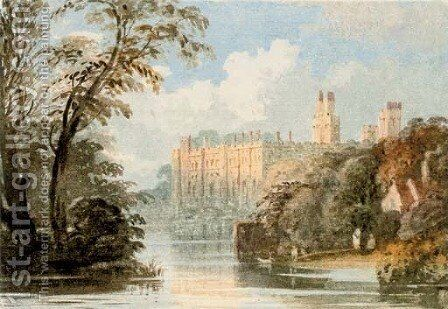 Warwick Castle Painting By John Varley Reproduction 1st Art Gallery