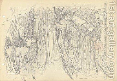 Study for 'The Mystic Wood' by (after) Cortona, Pietro da (Berrettini) - Reproduction Oil Painting
