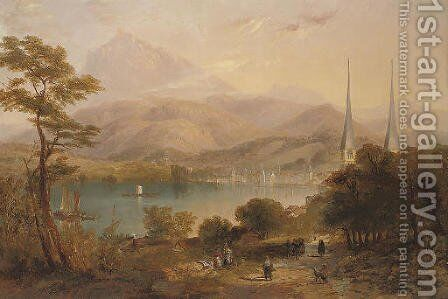 Lake Lucerne 2 by James Wilson Carmichael - Reproduction Oil Painting