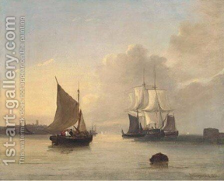 Off the mouth of the Humber by James Wilson Carmichael - Reproduction Oil Painting