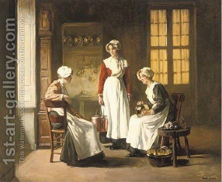 Polishing copper by Claude Joseph Bail - Reproduction Oil Painting