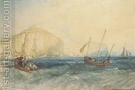 Fishing boats off Hastings by Turner - Reproduction Oil Painting