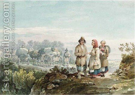 Russian Peasants by Carl Ivanovitch Kollmann - Reproduction Oil Painting