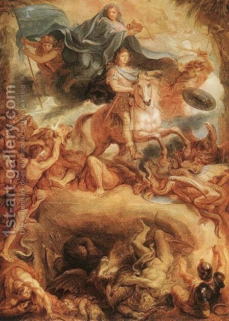 Apotheose of Louis XIV by Charles Le Brun - Reproduction Oil Painting