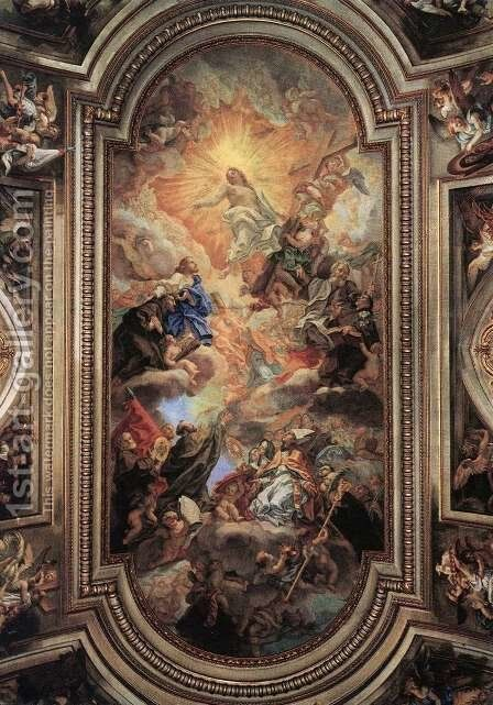 Apotheosis Of The Franciscan Order by Baciccio II - Reproduction Oil Painting