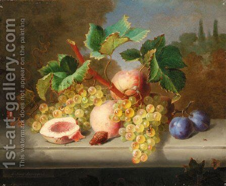 Still life by Ange Louis Lesourd-Beauregard - Reproduction Oil Painting
