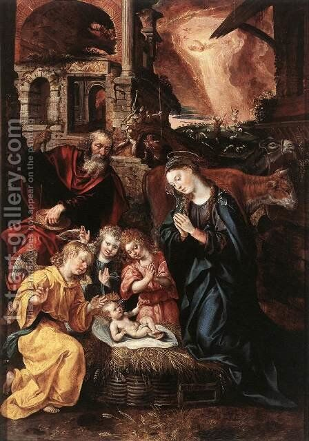 The Nativity by Jacob De Backer - Reproduction Oil Painting
