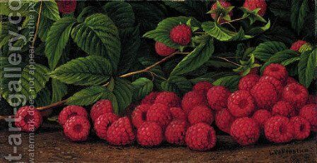 Raspberries by Levi Wells Prentice - Reproduction Oil Painting