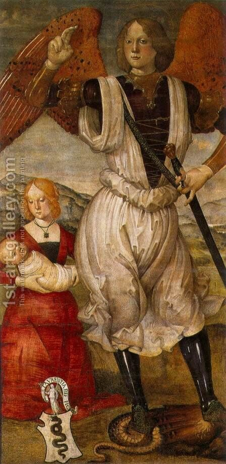 Archangel St Michael 1480 by Bartolomeo Della Gatta - Reproduction Oil Painting