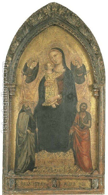 The Madonna and Child enthroned by Bicci Di Lorenzo - Reproduction Oil Painting