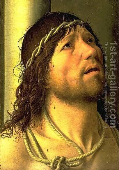 Christ At The Column (detail) by Antonello da Messina Messina - Reproduction Oil Painting