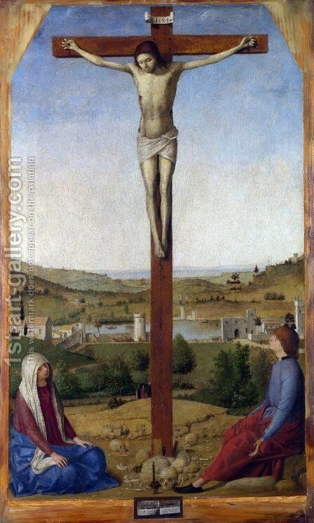 Crucifixion by Antonello da Messina Messina - Reproduction Oil Painting