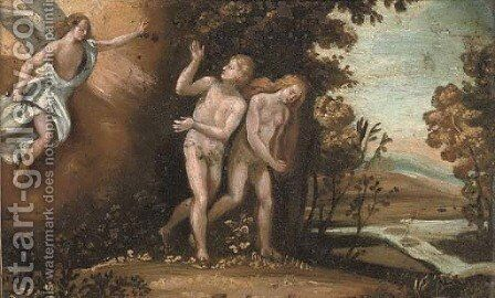 The Expulsion of Adam and Eve by (after) Adam Elsheimer - Reproduction Oil Painting